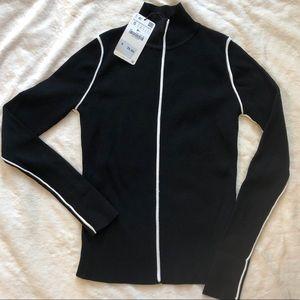 Zara knitted black turtleneck